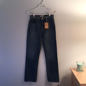 Mint Reformation jeans.